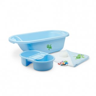 Mothercare Newborn Blue Bath Set