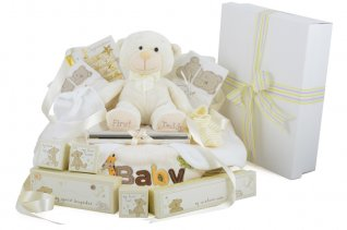 Supreme Deluxe Baby Gift Basket Neutral