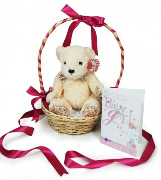 Teddy Bear Presentation Basket