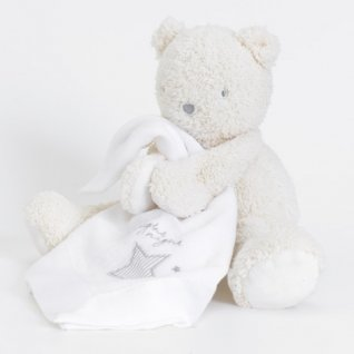 Silvercloud Made with Love Teddy Bear with Muslin Comforter