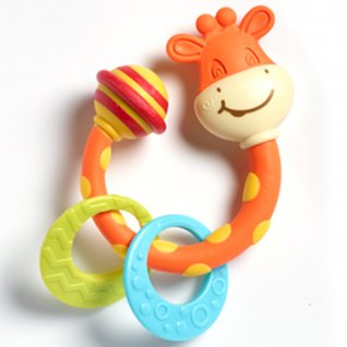 Tiny Smarts Teether-Rattle Tiny Giraffe