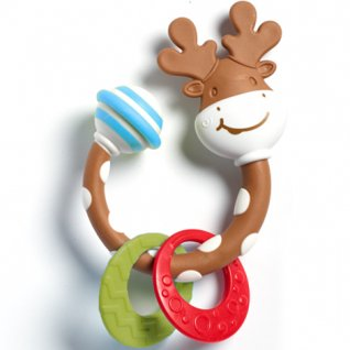 Tiny Smarts Teether-Rattle Tiny Moose