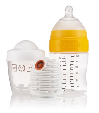 Yoomi 8oz Bottle & Warmer with Slow Teat
